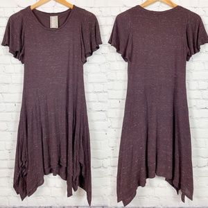 Dolan Anthropologie Daphne Hanky Hem Brown Dress